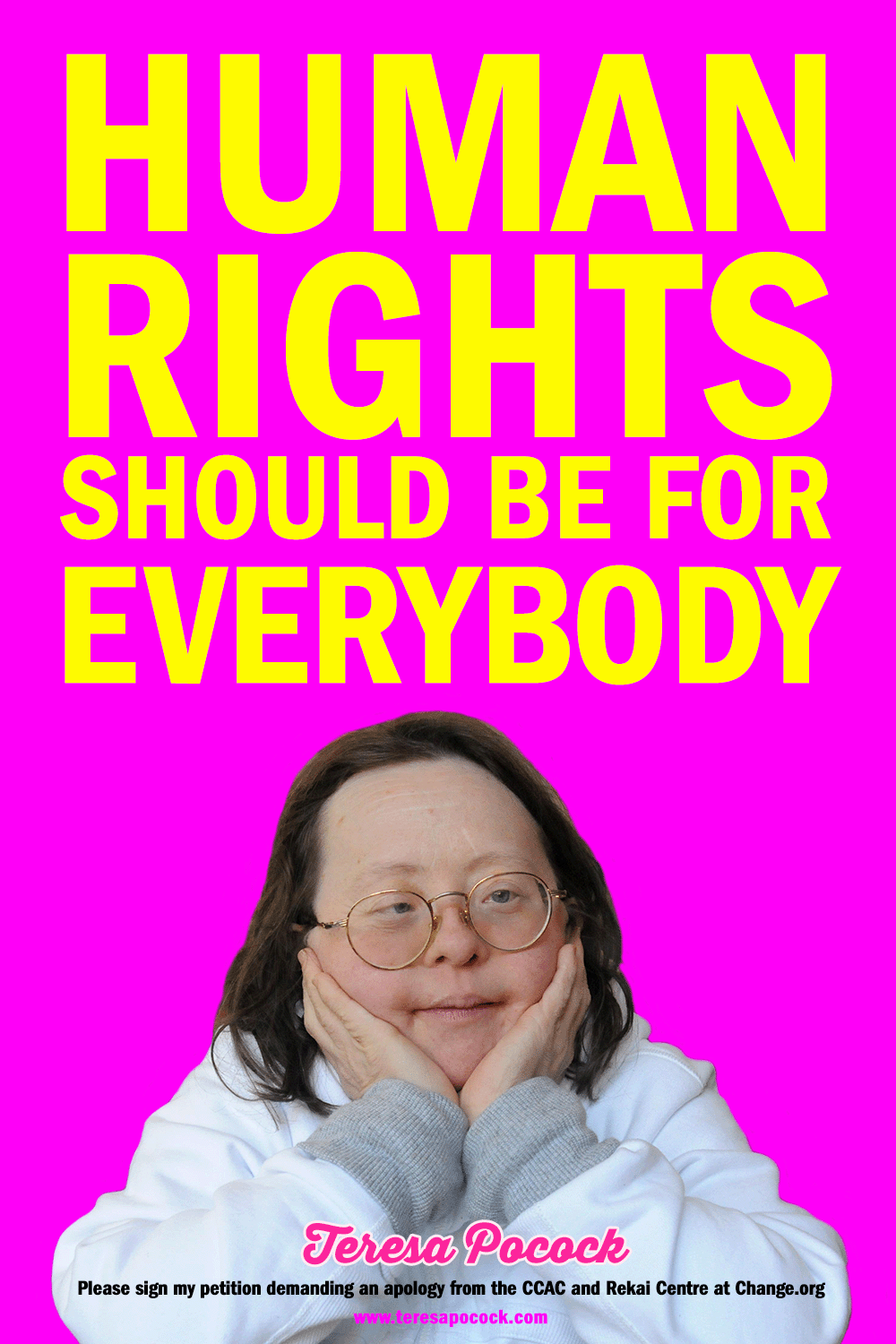 Teresa Pocock:Human Rights Should Never Be Disabled