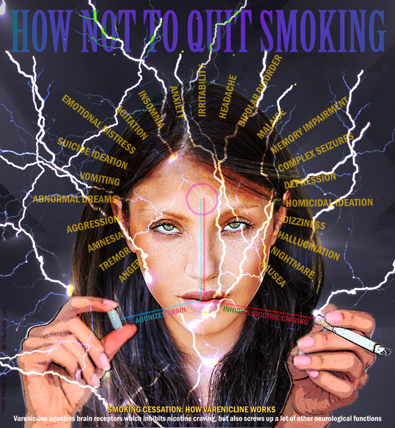 How Not to Quit Smoking: Champix, Chantix or Varenicline. Created by Billiam James