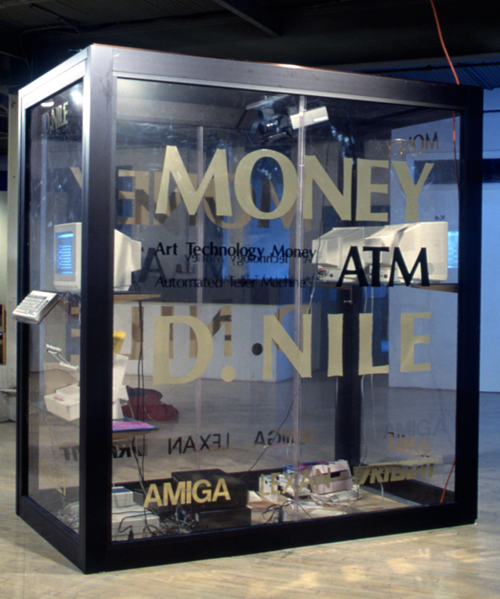 Money, an interactive sculpture created by D. Nile (a.k.a. Billiam James) for A Space exhibition Guerrilla Tactics