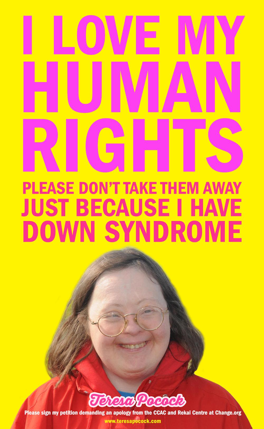Teresa Pocock: I Love My Human Rights