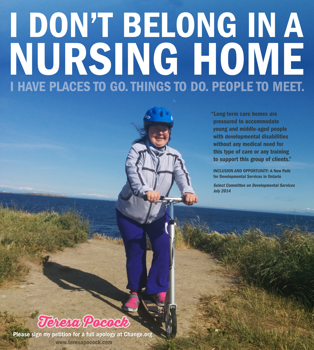 Teresa Pocock: I don't belong in a nursing home
